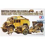 British Quad Tractor & 25pdr Gun