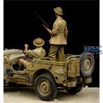 British Jeep Driver & Tommy Western Desert WWII