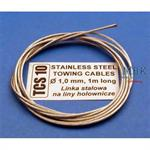 Stainless Steel Towing Cables Ø1,0mm, 1 m long