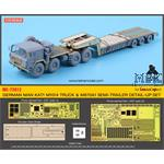 MAN M1014 truck & M870A1 semi-trailer detail set