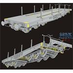 80 tons Type SSyms Schwerer Plattformwagen