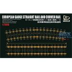European Gauge Straight Rail and Curved Rail 360mm