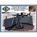 Oerlikon 22mm / 70 AA gun mark 10