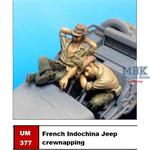 French Indochina Jeep crew napping