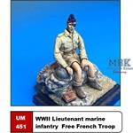 WW2 French Lieutenant Infanterie de Marine FFB