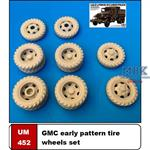 GMC early pattern tire wheel set 352/353