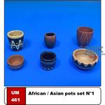 African/Asian Pots Set #1