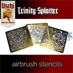 TRINITY SPLATTER airbrush stencils set