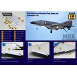 F-4K/M British Phantom Hard Wing Flap down set