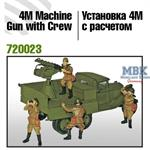 AA Quadruple Machine Gun 4M with Crew
