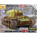 1:100 WW2 sov. Panzer KV-1