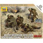1:72 WWII britisches MG mit Crew
