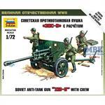 Zis-3 Soviet Gun + Crew   1/72