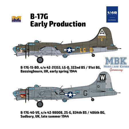B-17G  Flying Fortress - early production