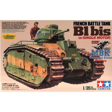 WWII Franz. Panzer B1 bis (motor.)
