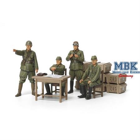 Japanische Soldaten mit Zubehör