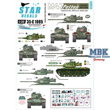Special: M-47 Patton inkl. Star Decals: Balkan M47