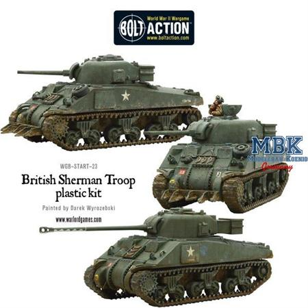 Bolt Action: British Sherman V Troop incl. Firefly