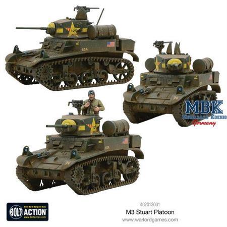 Bolt Action: M3 Stuart Platoon