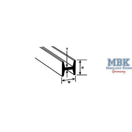 H-Profil mm.6,4Hx6,4Wx1,0Tx375L