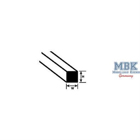 Quadratprofil mm.0,3x250L