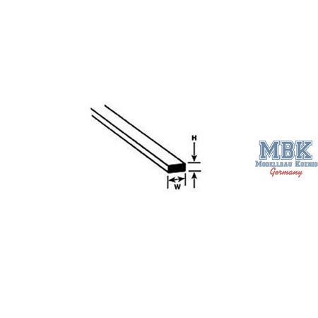 Vierkantprofil mm.0,3x0,8x250L