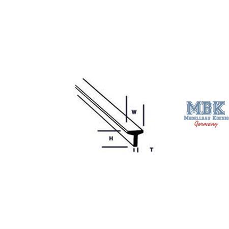 T-Profil mm.1,6Hx1,6Wx0,5Tx250L