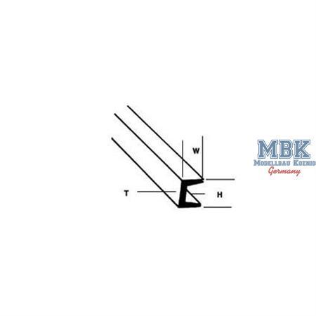 U-Profil mm.1,6Hx1,0Wx0,4Tx250L