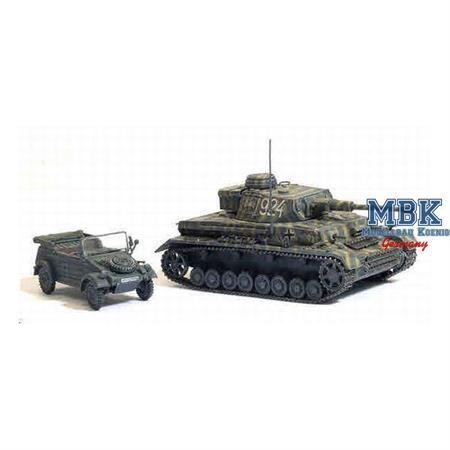 Pz.Kpfw. IV Ausf. F2 (G) + Kübelwagen