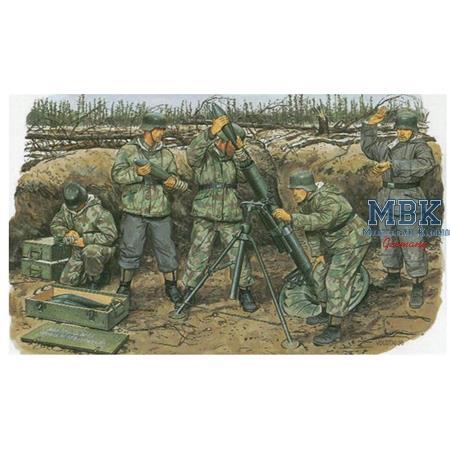 12 cm Granatwerfer mit Crew