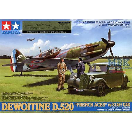 WWII Dewoitine D.520 Franz.Ass u.Staff Car