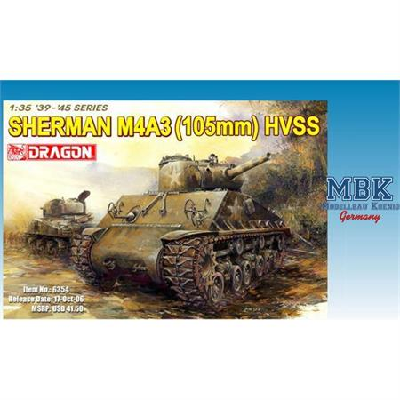 Sherman M4A3 with 105mm Howitzer gun and HVSS