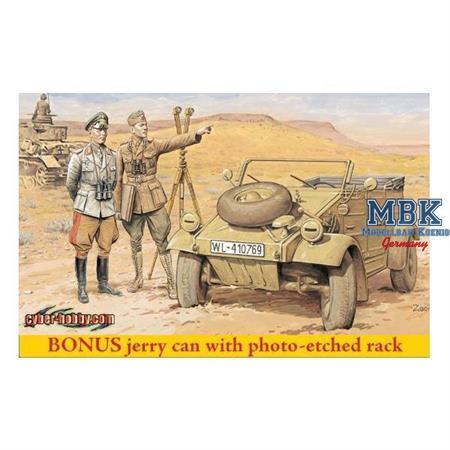 DAK Kübelwagen w/ Rommel and Officer