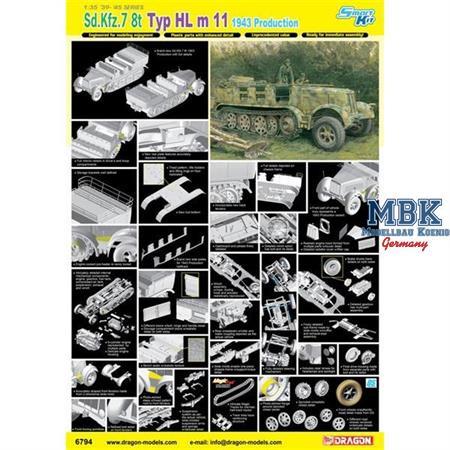 Sd.Kfz.7 8(t) 1943 Production - Smart Kit