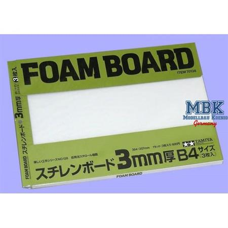 Schaumstoffplatte 3mm 257x364mm, 3 Stück