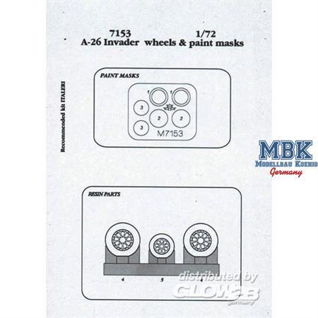 A-26 Invader Räder und Maskierfolie