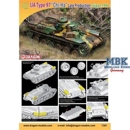 "IJA Type 97 ""Chi-Ha"" Late Prod., Saipan 1944"