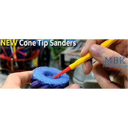 Cone Tip Sander - 320 Grit & Applicator Handle
