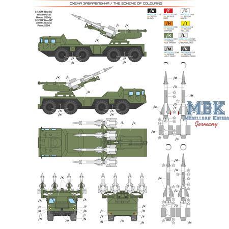 "S-125 ""Neva -SC"" missile system on MAZ-543"