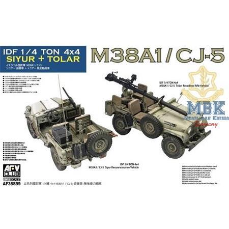 M38A1/ CJ-5 Siyur Recce + Tolar fire support veh.