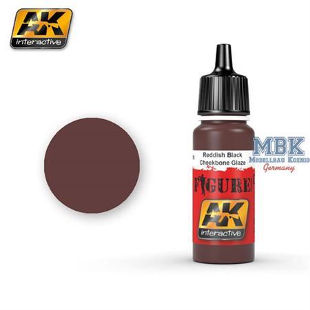 Reddish Black/ Cheekbone Glaze