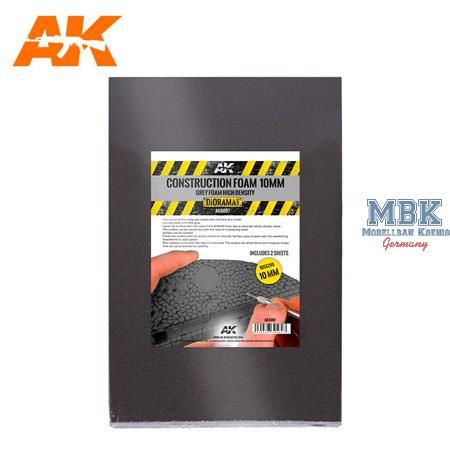 Construction Foam 10mm blue foam - 2x 195x295mm