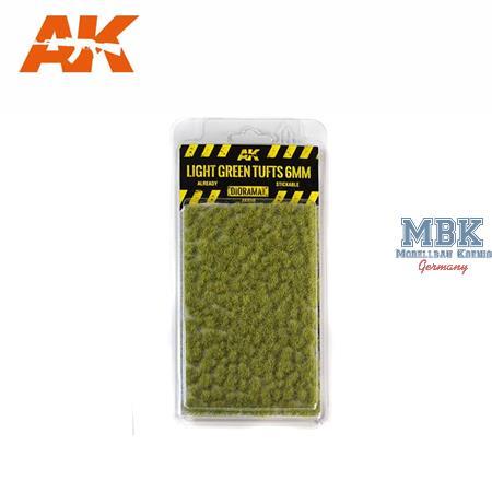 LIGHT GREEN TUFTS / HELLGRÜNE BÜSCHEL 6mm