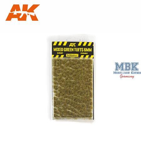 MIXED GREEN TUFTS / GRÜNE BÜSCHEL (MIX) 6mm