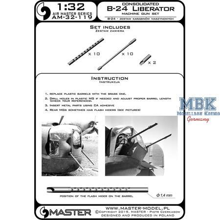 Consolidated B-24D/B-24J Liberator MG barrel set