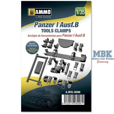 Panzer I Ausf.B Tools Clamps  1:35