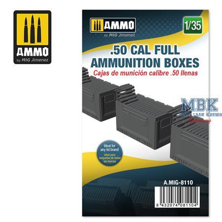 .50 cal Full Ammunition Boxes 1:35