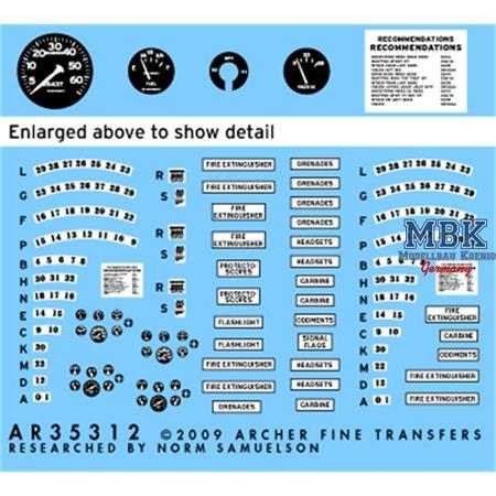 US M8 Light Armored Car Instrumente+Hinweisschild