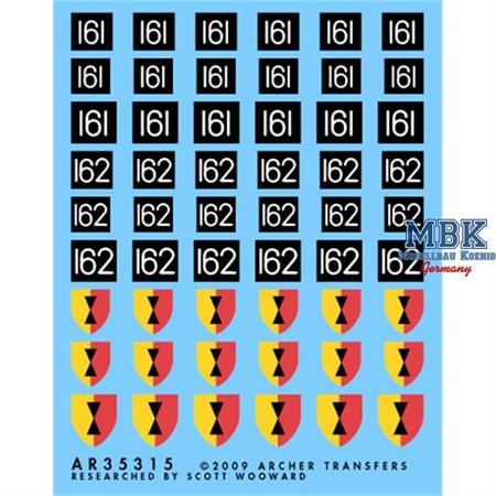 Brit. 25th Div AoS und Formations Markierungen