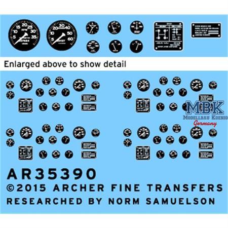 US M19 Transporter - Istrumente u. Schilder